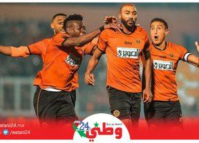 نهضة بركان يفوز بميدانه على المصري البورسعيدي بهدف للاشيء ويتأهل لنصف النهاية