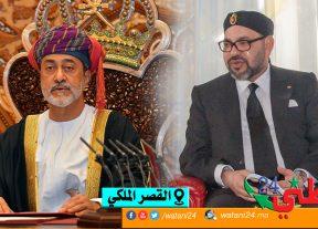 برقية تهنئة إلى جلالة الملك من سلطان عمان