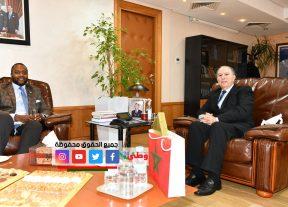 بالصور..القنصل العام الأمريكي يلتقي عزيز دادس عامل عمالة مقاطعات الدار البيضاء-أنفا