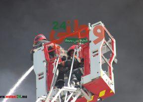 بالفيديو .. حريق مستودع سنطرال دانون بالمحمدية