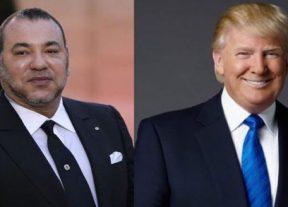ترامب يعرب عن إرتياحه للصداقة الأمريكية – المغربية في برقية تهنئة لجلالة الملك