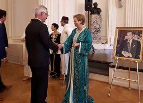 للا جمالة العلوي تقيم حفل استقبال كبير بواشنطن بمناسبة عيد العرش