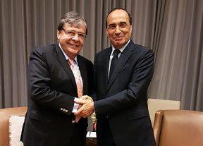 رئيس مجلس النواب يجري مباحثات مع وزير العلاقات الخارجية الكولومبي المعين