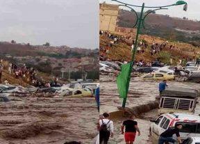 الكشف عن الحصيلة المؤقتة لضحايا فيضانات قسنطينة في الجزائر