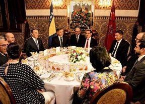 جلالة الملك يقيم مأدبة عشاء على شرف رئيس مجلس الوزراء بجمهورية البوسنة والهرسك