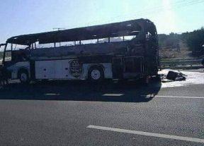 إحتراق حافلة وفاق سطيف الجزائري و هذه هي الأسباب