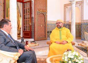 جلالة الملك محمد السادس يستقبل عزيز أخنوش
