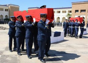 بـالـصـور:بتعليمات سامية الجنرال العابد العلوي يترأس مراسيم جنازة ضحايا سقوط مروحية عسكرية جنوب المملكة