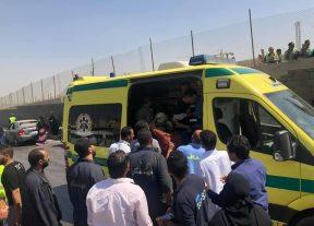 عـاجـل:16جريحا في تفجير استهدف حافلة سياحية عند المتحف المصري الكبير بمنطقة الأهرامات بالجيزة+( صور)