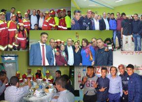 """بالفيديو:""""أوزون"""" تجمع عمالقة السينما والفن المغربي في عملية إفطار جماعي لفائدة نزلاء خيرية بنسليمان"""