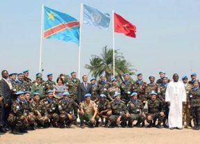 مونوسكو:توشيح التجريدة المغربية في الكونغو الديمقراطية نظير الخدمات الجليلة التي تقدمها