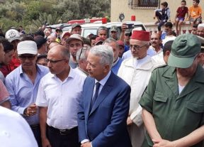 ساجد يحل بإقليم تارودانت لتقديم واجب العزاء لضحايا الفيضانات