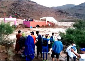 فاجعة تارودانت:العثور على شخص مصاب بجروح متفاوتة الخطورة على إثر الفيضانات التي شهدها إقليم تارودانت