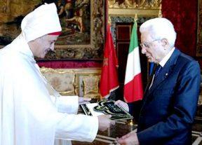سفير جلالة الملك في إيطاليا يسلم أوراق إعتماده للرئيس سيرجيو ماتاريلا