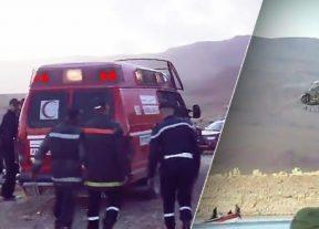 إنقلاب حافلة نقل المسافرين بإقليم الرشيدية..إنتشال جثث 3 أشخاص آخرين