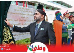 بالصور..جلالة الملك محمد السادس يدشن بسلا مركب محمد السادس لكرة القدم