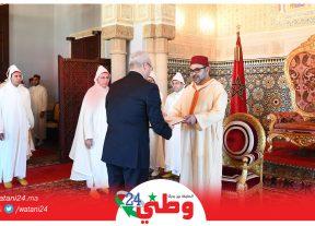 جلالة المٓلك يستقبل السفراء الأجانب الجدد المُعتمٓدين بالمغرب