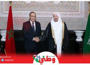 رئيس مجلس النواب يتباحث مع رئيس مجلس الشورى بالمملكة العربية السعودية
