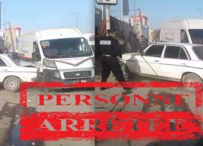 عدم الإمتثال وتعريض الشرطة للخطر يقودان سائق سيارة النقل السري للإعتقال