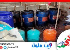 حجز أطنان من مسكر ماء الحياة و مواد أولية التي تستعمل في تصنيعه